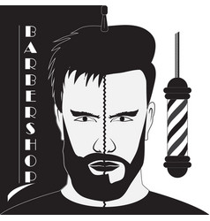 signboard barber shop vector image vector image