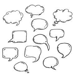 trendy message or chat icon or bubble vector image