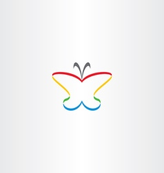 butterfly icon colorful logo vector image vector image