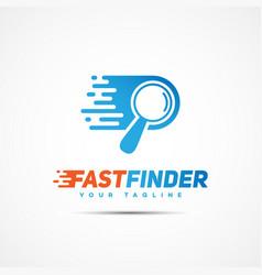 fast finder logo vector image