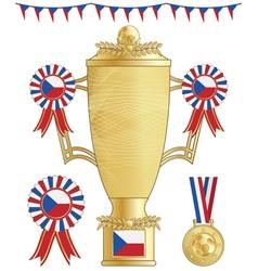 czech republic football trophy vector image