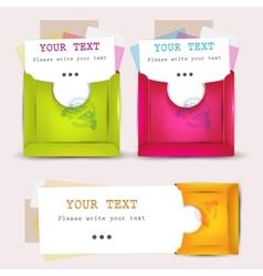 paper envelopes set vector image vector image