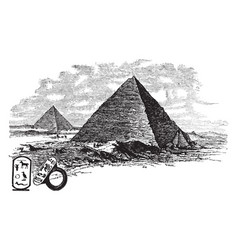 Pyramids is a building upper surfaces are vector