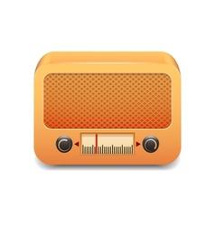 Vintage wooden radio vector image vector image