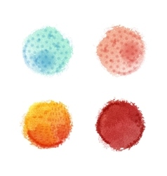 watercolor round spots with hand drawn vector image vector image