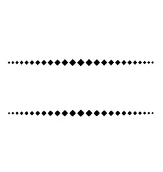 a simple dotted line consists of black squares vector image