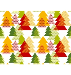 Abstract art background Christmas tree seamless vector