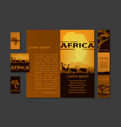 Africa travel design template vector