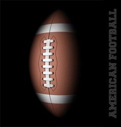 American football on black vector image