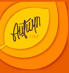 Autumn time stylized background vector