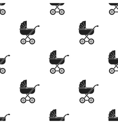 Baby transport icon in black style isolated on vector