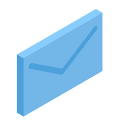 Blue mail letter icon isometric style vector