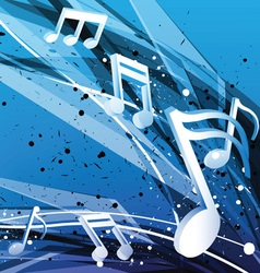 Blue music design background vector