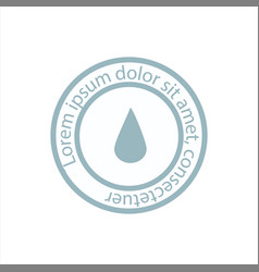 blue water resistant logo icon or sign vector image