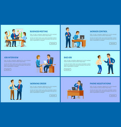 Boss and employee relationships pages office work vector