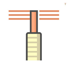 Brush for duct cleaning icon 64x64 perfect pixel vector
