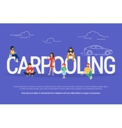 Carpooling concept vector image