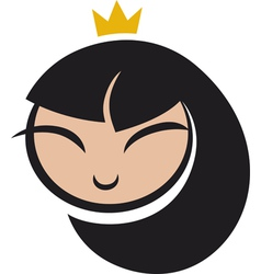 Cartoon princess icon vector