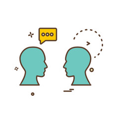chat men talking icon design vector image