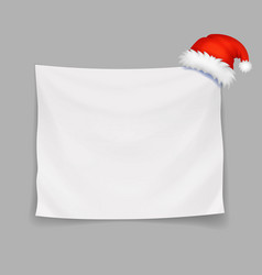 christmas blank banner or greeting card vector image