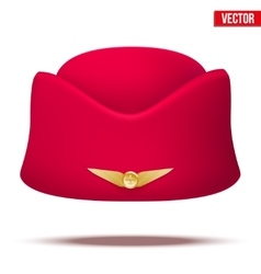 Classic Stewardess hat forage-cap of air hostess vector