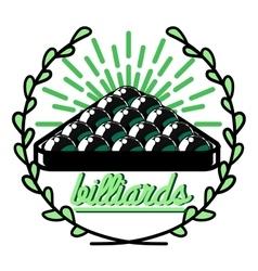 Color vintage billiard emblems vector image