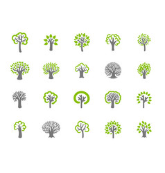 concept of tree black on vector image