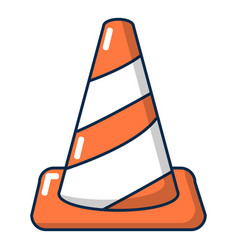 cone road icon cartoon style vector image
