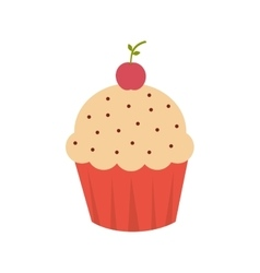 cup cake sweet dessert bakery isolated vector image