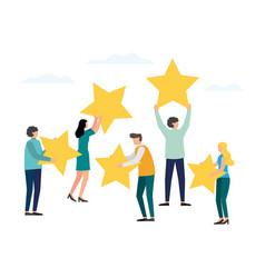 Customer review rating vector