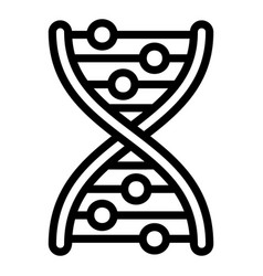 Dna formula icon outline style vector