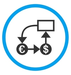 Euro Flow Chart Circled Icon vector