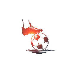 fine penalty football soccer game concept vector image