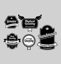 genuine label badges vector image
