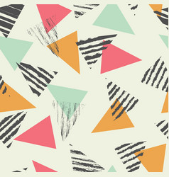 Geometric triangle seamless pattern vector