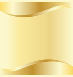 Gold curve background template vector