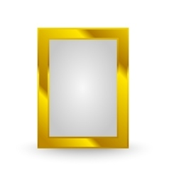 gold frame isolated vector image