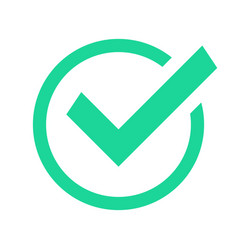 Green circle check mark confirmation tick marks vector