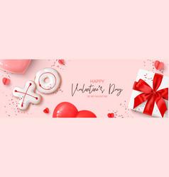 Happy valentines day banner vector