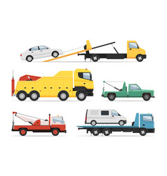 help lorry rescue assistance freight trailer vector image