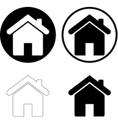 home icon set isolated on white background vector image