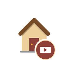 Home play icon vector