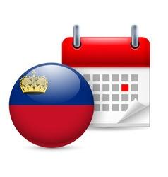 Icon of national day in liechtenstein vector image