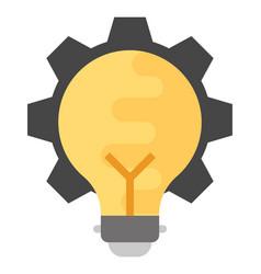 Idea generation flat icon vector