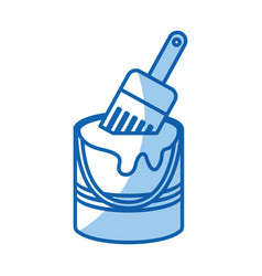 instrument brush work vector image