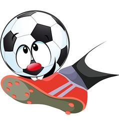Kick ball biting - funny vector