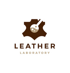 Leather laboratory logo icon vector