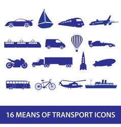 means of transport icon set eps10 vector image