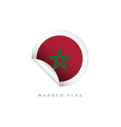 Morocco label flags template design vector
