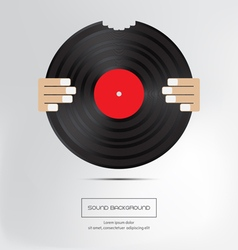 Music background bite musical plate isolated vector